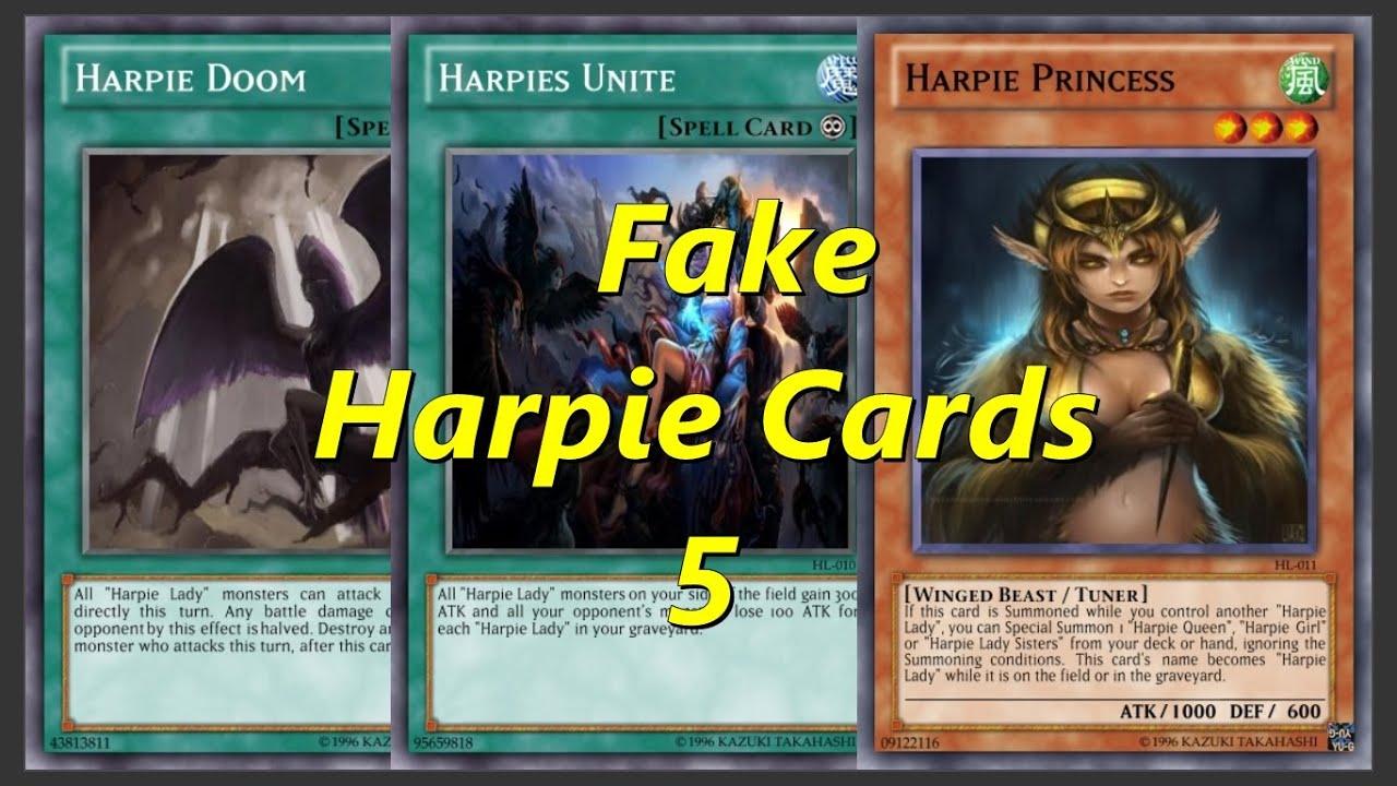 Spell Cards Yugioh Yugioh Fake Harpie Cards 2