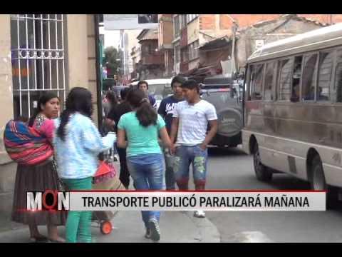 18/12/2014 13:45 TRANSPORTE PUBLICÓ PARALIZARÁ MAÑANA