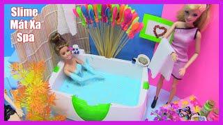 Búp Bê Barbie Thử Làm Nhân Viên Mát Xa - Spa - Tắm Bồn Slime (Chị Bí Đỏ) Đồ Chơi Trẻ Em