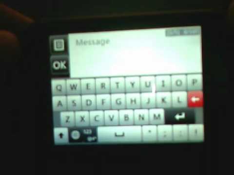 LG 800G Texting
