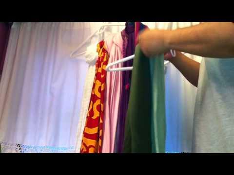 Organizar las bufandas - Idea para ordenar armario