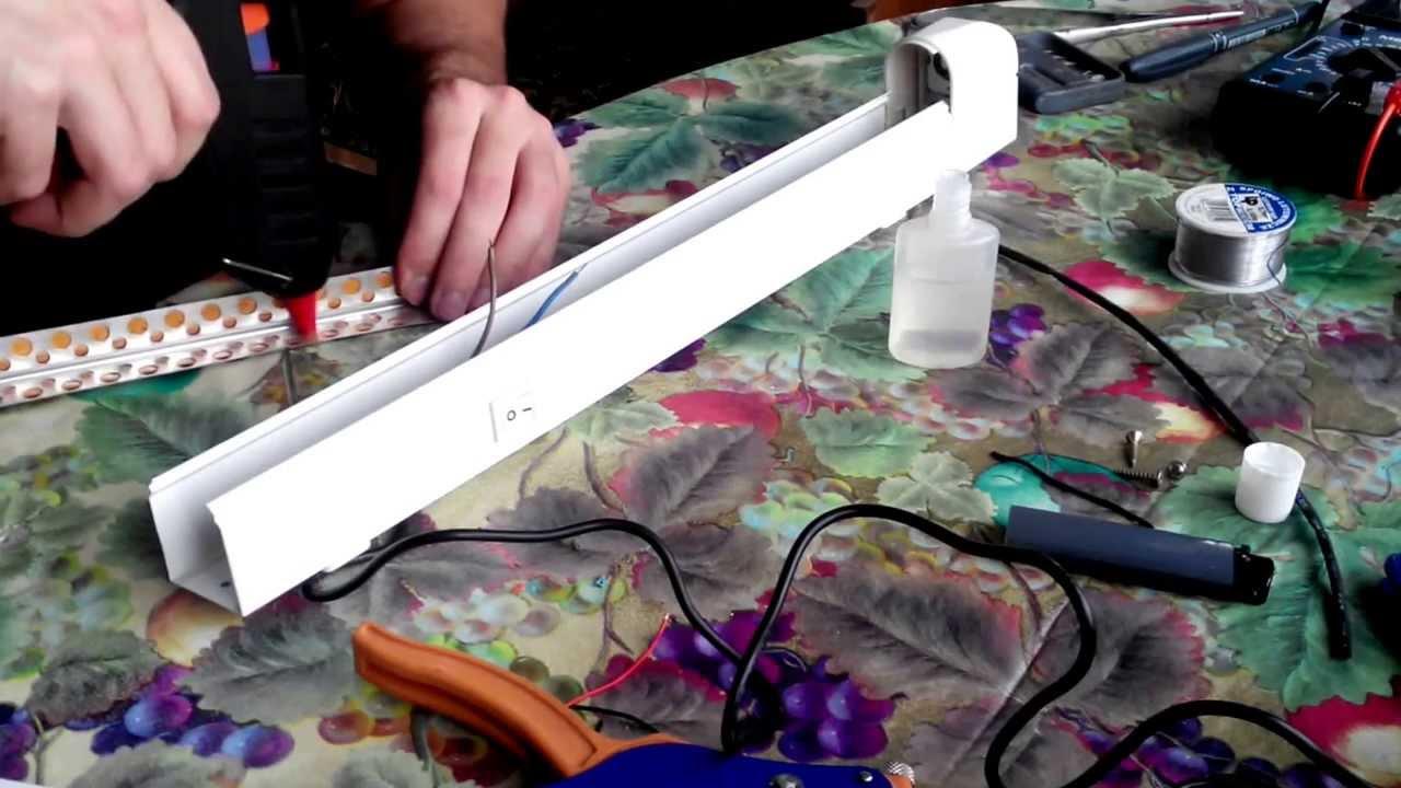 Как сделать светильник из светодиодной ленты своими руками 87