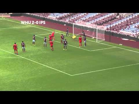 Matthias Fanimo in action for West Ham