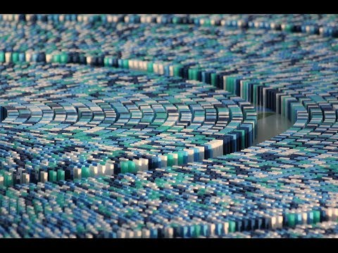 Guinness World Record - Most dominoes toppled in a spiral (55,555 Dominoes) - Extra Video