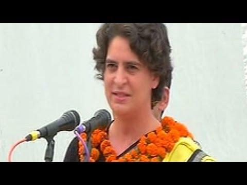 Priyanka Gandhi tears into Narendra Modi, dares BJP