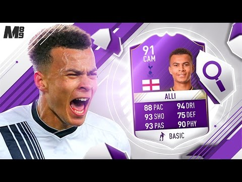 FIFA 17 YPOTY DELE ALLI REVIEW | YPOTY 91 ALLI | FIFA 17 ULTIMATE TEAM PLAYER REVIEW