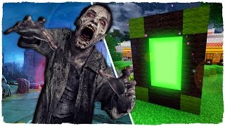 HOW TO MAKE A PORTAL TO THE DIMENSION OF THE WALKING DEAD - MINECRAFT | THE DEATH OF NEGAN