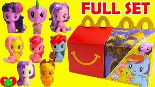 My Little Pony Cutie Mark Crew MLP McDonald's Happy Meal Toys Full Set