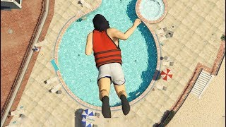 GTA 5 Jumps/Falls Ragdolls Compilation (Euphoria physics Fails Funny Moments)