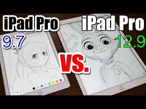 iPad Pro 9.7 vs 12.9 - ULTIMATE DRAWING COMPARISON|Which One is Better?!
