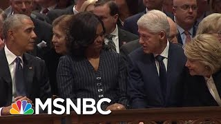 Watch Trump, Hillary Clinton, Obama Sit Together At Bush Funeral | The Beat With Ari Melber | MSNBC