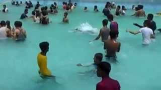 Aquatica Water Park Kolkata girls dancing in waters is very hot...