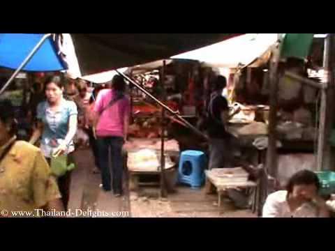 Railway market Samut Songkhram, Mae Klong Market, Thailand. Part 1