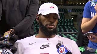 LeBron gives update on his leg, lists keys to winning Game 7 vs. Celtics