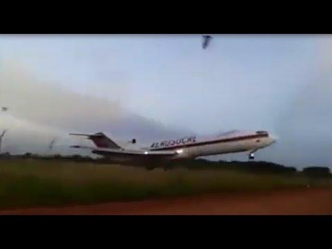 مرعب تحطم طائرة بونيغ 727 في كولومبيا Boeing 727 Airplane Accident in Colombia