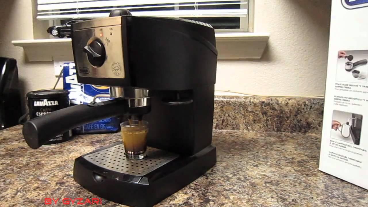 DeLonghi EC155 Espresso Maker How to make espresso coffee at home - YouTube