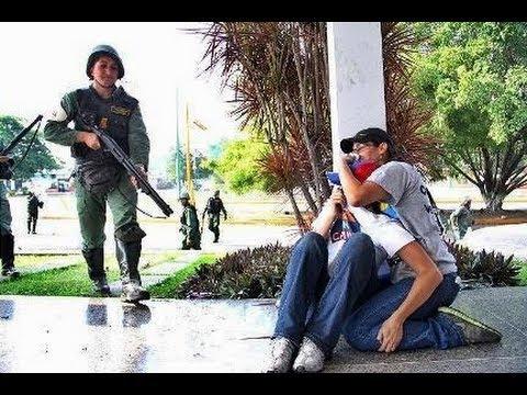 La Guardia Nacional Bolivariana le dispara a un Joven en el Piso