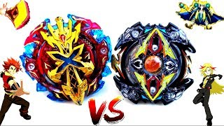 Zillion Zeutron .I.W vs Xeno Xcalius .M.I - Zac vs Xhaka - Beyblade Burst Battle - Z2 vs X2