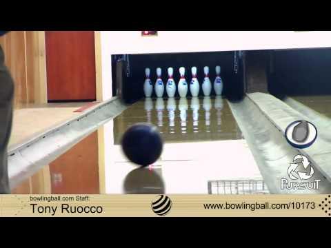 Ebonite Pursuit Bowling Ball Reaction Video by bowlingball.com