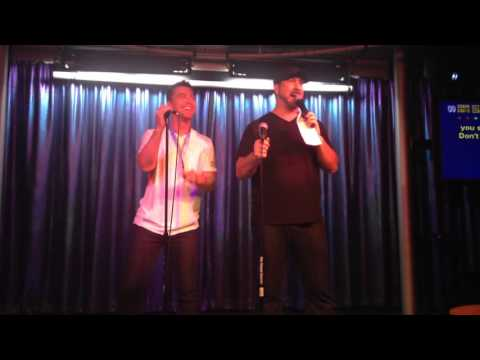 Lance Bass & Joey Fatone singing I want it that way - Backstreet boys / April 14,2016 #DirtyPopAtSea