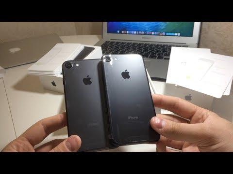Восстановленный iPhone 7 - сравнение с новым, распаковка