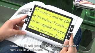 Zoomax Snow 7 HD handheld video magnifier operating instruction