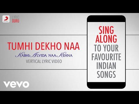 Tumhi Dekho Naa - Kabhi Alvida Naa Kehna|Official Bollywood Lyrics|Alka|Sonu