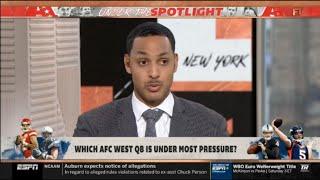 Ryan Hollins WORRIED Which AFC West QB is under most pressure? | FIRST TAKE 7/18/2019