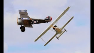 """DAWN PATROL"" GIANT 1/3 SCALE MULTIPLE RC WW1 SCOUT / FIGHTERS - BMFA NATIONALS - 2017"