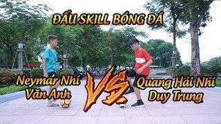 Thử thách bóng đá Quang Hải Nhí Duy Trung và Neymar Nhí Văn Anh Tung Clip Show Các Skill Sở Trường