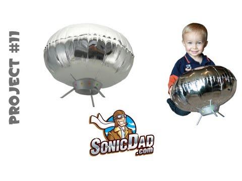 UFO Lander Helium Balloon - SonicDad Project #11
