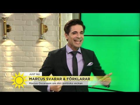 Den politiska veckan får Marcus att totalt rocka loss - Nyhetsmorgon (TV4)