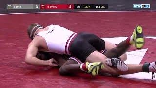 165 Pounds: Isaiah White (Nebraska) vs. #2 Evan Wick (Wisconsin) | Big Ten Wrestling