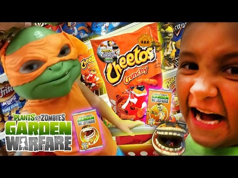 Shopping for Plants vs. Zombies Cheetos! WHERE ARE YOU?!?! (w/ Dad, Mike & Chase) Garden Warfare DLC