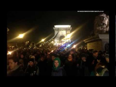 Students Protest, Budapest, Hungary 2012 Dec. - They Don't Care About Us...