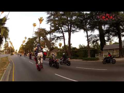 Capone 818 Birthday Ride 2013 Motorcycle Wheelies Streets Tricks Crashes Stunt Spot Stunts