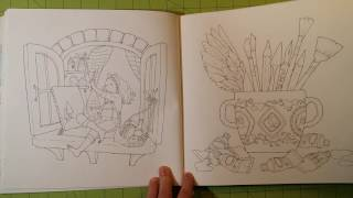 The Longing Room Adult Coloring Book Review Flip Through