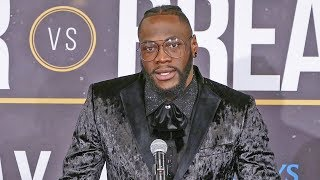 Deontay Wilder FULL POST FIGHT PRESS CONFERENCE vs. Dominic Breazeale
