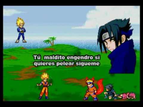 Naruto vs dragon ball z (naruto sasuke sakura vs goku y vege
