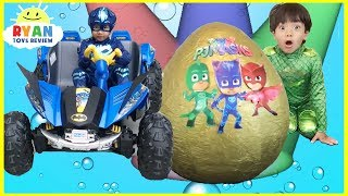 Pj Masks Toys videos Compilation for Kids! Giant Egg Surprise Headquarters Playset Catboy Gekko