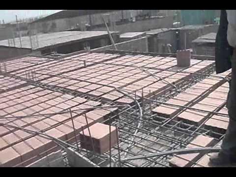 Llenado de techo 2 youtube for Modelos de yeso para techos