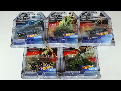 Jurassic World Hot Wheels T Rex Raptor Triceratops Mosasaurus