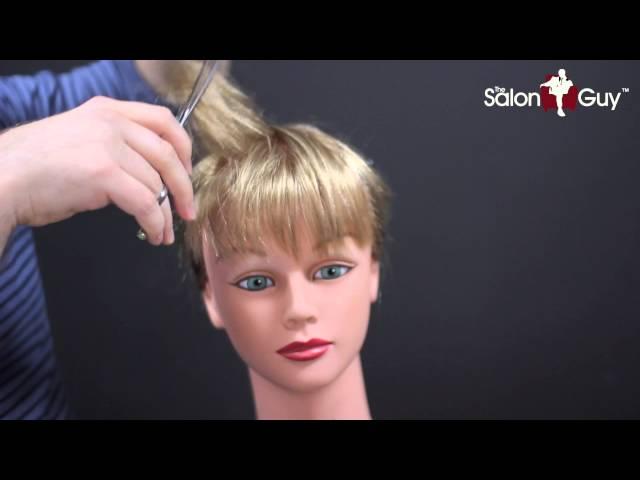 Bangs At Home Wispy Shag Bang Textured Haircut Step By Step Tutorial