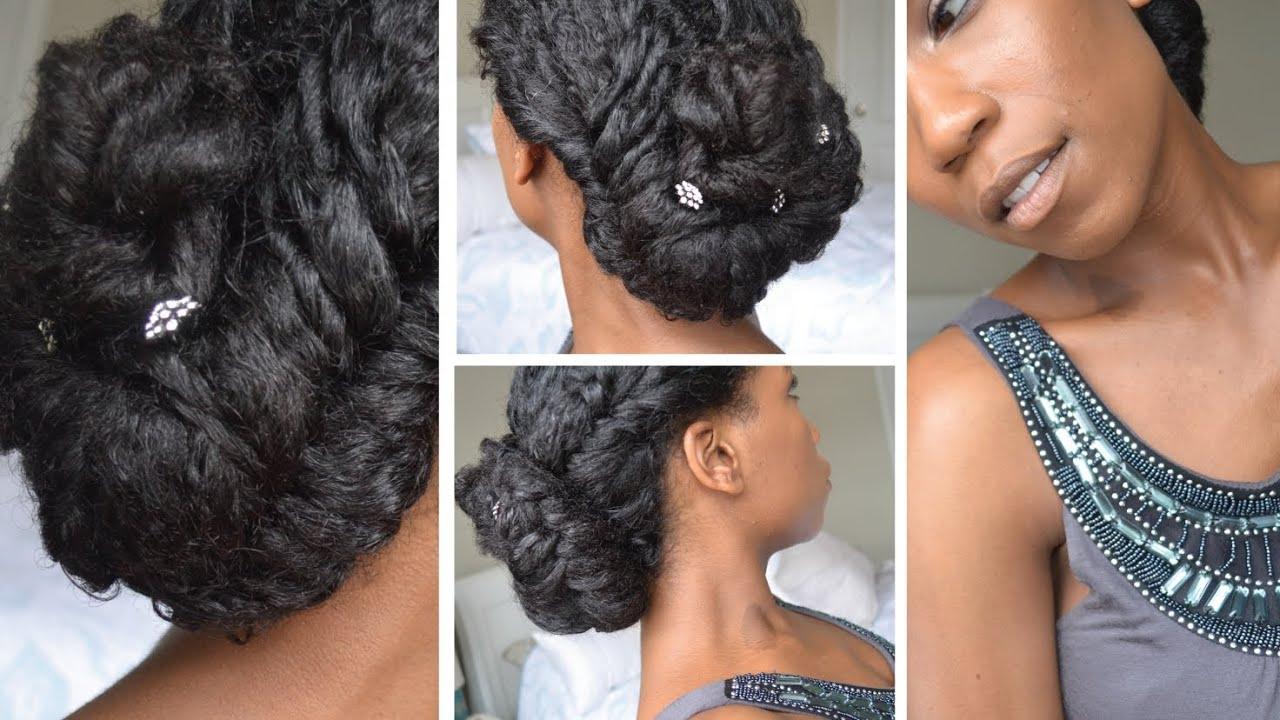 Elegant Fishtail Braid Updo Natural Hair Youtube