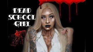DEAD SCHOOL GIRL HALLOWEEN TUTORIAL