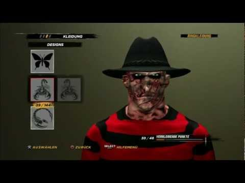 WWE´12 How to create Freddy Krueger