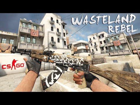Cs:go - Ak-47 Wasteland Rebel Gameplay video