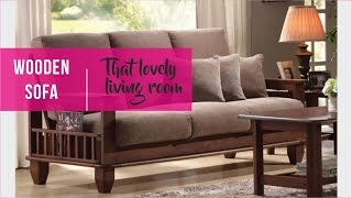 Wooden sofa in Solid Sheesham wood / Indian rosewood - Rightwood furniture