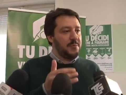 Conferenza Stampa  26 marzo 2014 Referendum - Intervista Matteo Salvini