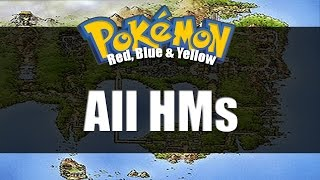 Pokemon Red Blue & Yellow | All HM Locations